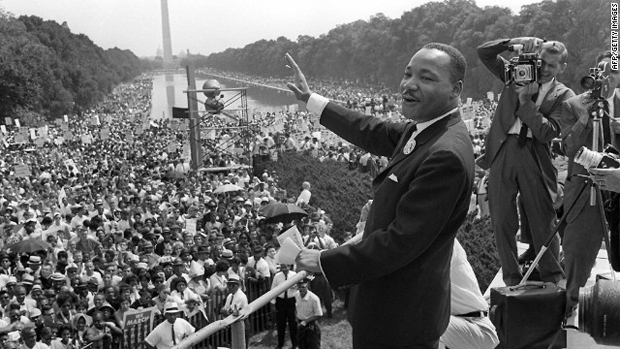Right before Dr. King spoke the famous words...he ditched the speech.