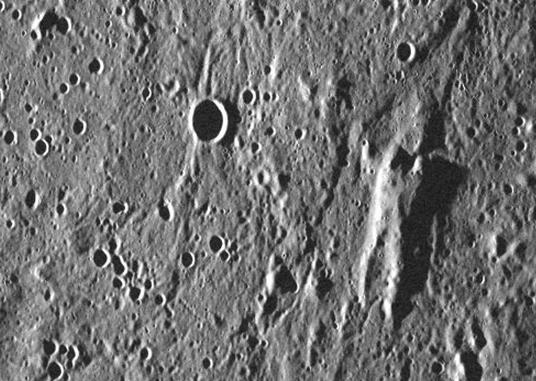 """Frozen Han""....on Mercury. Photo courtesy of NASA."