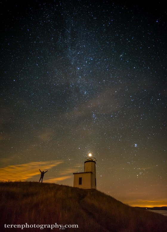 The mily way at Cattle Point Lighthouse on San Juan Island, WA (USA)...photo by Chris Teren