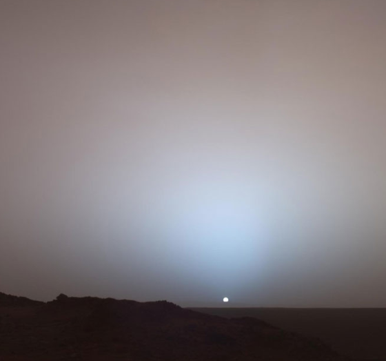 Sunset on the red planet....photo courtesy of nasa.gov