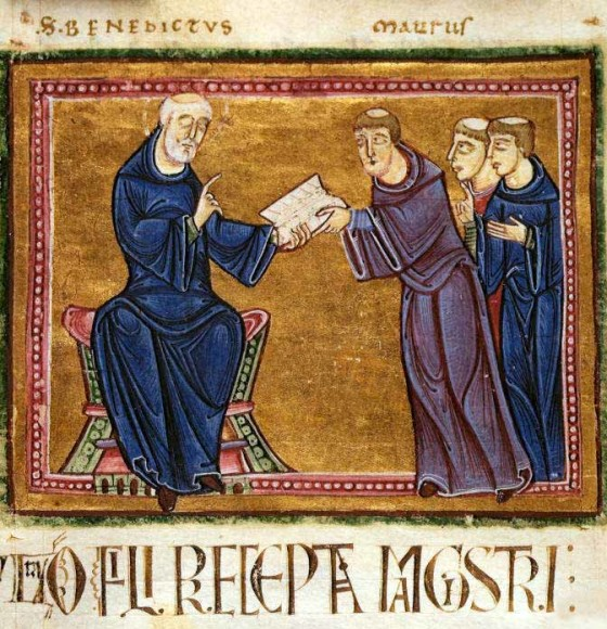 That's St. Benedict, deliver his Rule to his order...the Ten Most Important Things come from that tradition, but with the hope of opening the cloistered mind & heart to a light-filled way of looking at things & experiencing this physical lifetime.